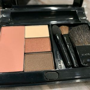 Mary Kay compact with blush, shadows, brushes